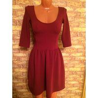 Платье бордовое на красавицу 42 размер, очень хорошо тянется, длина 88 см. Смотрится очень стильно и интересно. Обмен не интересует.
