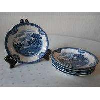Тарелка маленькая (блюдце) Johnson Brothers Англия 6 штук, диаметр 14 см.