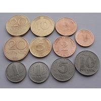Германия. Набор 11 монет:1,2,5,10,20 пфеннигов