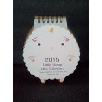 2015 г настольный календарь Овечка Little Sheep Mini Calendar