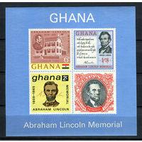 Гана - 1965 - Линкольн - [Mi. bl. 18] - 1 блок. MNH.