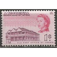 Антигуа. Королева Елизавета II. Старая почта. 1966г. Mi#157.