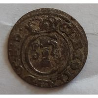 Солид шведская прибалтика 1654 рижский с блеском