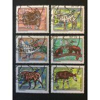 Исчезающие животные . ГДР,1980, серия 6 марок