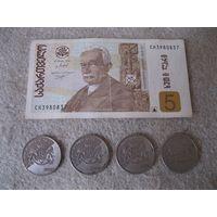Лот денежных знаков Грузии.