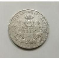Германия Гамбург 5 марок 1876 г