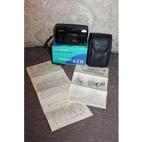 Фотоаппарат ЗЕНИТ-610, коробка, инструкция, работоспособность неизвестна.