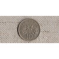 Сингапур 10 центов 1991/флора(Uss)