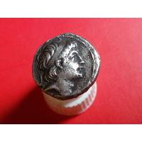 1 Драхма Антиох-7 Эвергет (Сидет) 138-129 гг.до н.э...Селеквиды!..РЕДКОСТЬ..СЕРЕБРО.