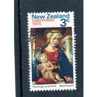 Новая Зеландия.Ми-664. Рождество. Живопись. Макиавелли - Святая Мария и ребенок. 1975