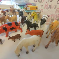 Фигурки домашних 25 шт и диких животных 25 шт