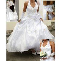 Роскошное свадебное платье и полное свадебное убранство к нему,- можно всё отдельно, р-р 40-42, рост 164 -170+каблук!
