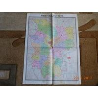 Карта Минской области