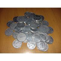 58 монет - 1 пфенниг ГДР одним лотом
