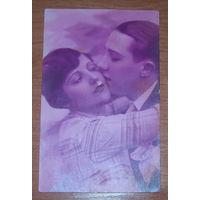 Старая фото-открытка 1928 год.Франция.