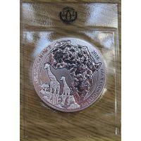 Руанда, 5000 франков, 2018, серебро