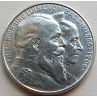 50. Германия Баден, 2 марки 1906 год, серебро