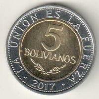 Боливия 5 боливиано 2017