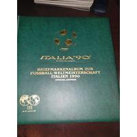 Немецкий альбом, для марок, посвященный Чемпионату Мира по футболу в Италии 1990 года. (без марок)