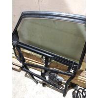 Задняя левая рамаа двери Ауди А6 С5, стекло в придачу