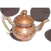 Ручной работы, исламский ближневосточный медный чайный горшок.