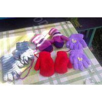 Мега лот рукавичек и шапочка на байке