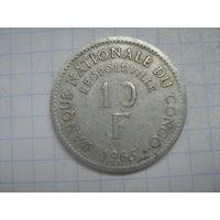 Демократическая Республика Конго(Леопольдвиль) 10 франков 1965г.km1