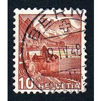 47: Швейцария, почтовая марка, 1936 год, номинал 10с, SG#372A