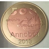 Остров АННОБОН (Экваториальная ГВИНЕЯ) 500 экуэле 2013 год