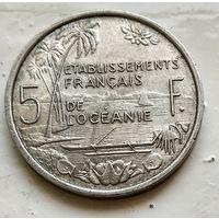 Французская Океания 5 франков, 1952 3-1-17